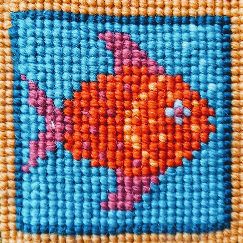 Fish Tapestry Mini-kit, Fish Tapestry Pincushion Kit