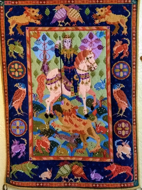 Lion Hunt Tapestry Kit Wall hanging, Lion Hunt Charted Tapestry Kit,