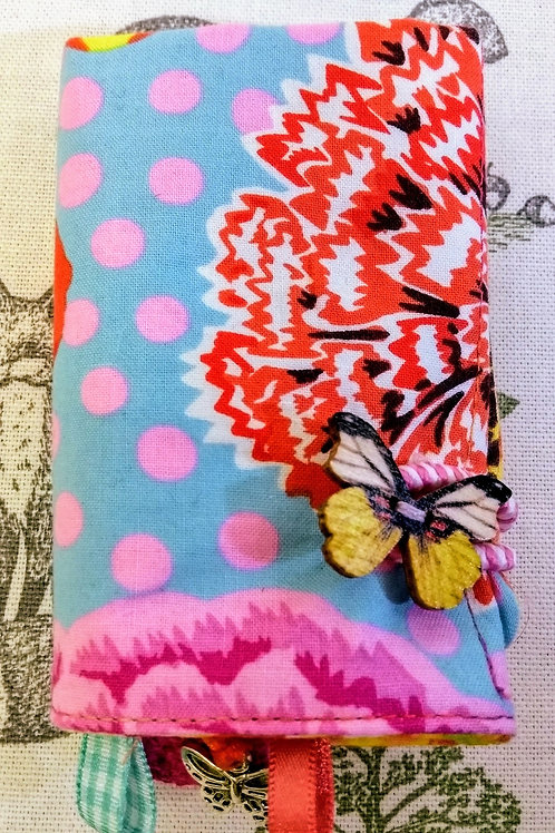 Fabric Tea Wallet, Big Blooms