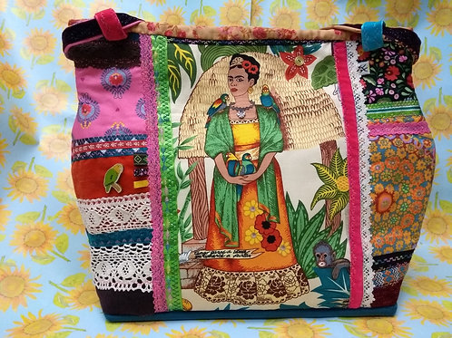 Frida Khalo Embroidered Bag (B)