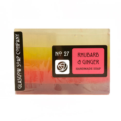 Rhubarb and Ginger Soap, Glasgow Soap Company, Handmade Soap