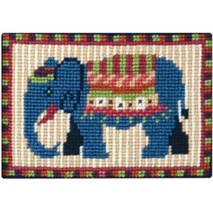 Blue Elephant Tapestry Kit, Animal Fayre Designer Tapestry Kit, Charted tapestry