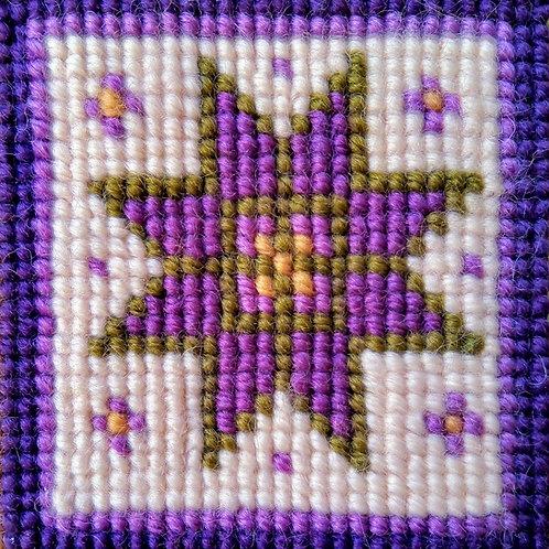 Purple Star Tapestry Mini-kit, Purple Star Tapestry Pincushion Kit