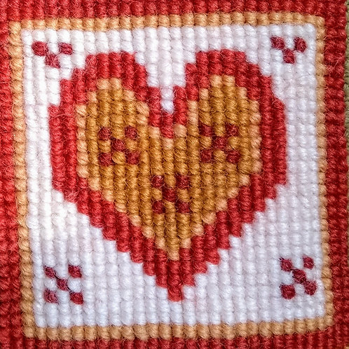 Red Heart Tapestry Mini-Kit, Red Heart Tapestry Pincushion Kit