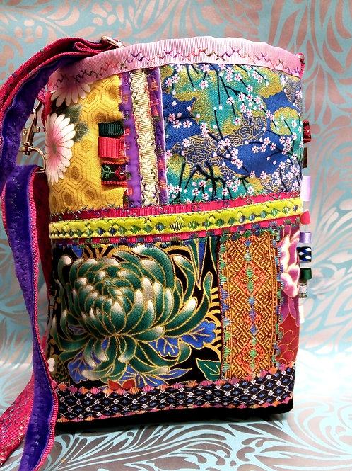 Japanese Fabric Cross Body Bag, Animal Fayre Designs Unique Bag