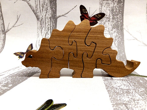 Five Piece Stegasaurus Wooden Puzzle