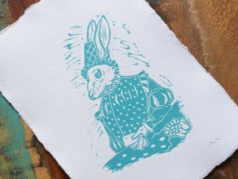 Coney, Lino cut Print by Jack Conkie, Limited Edition