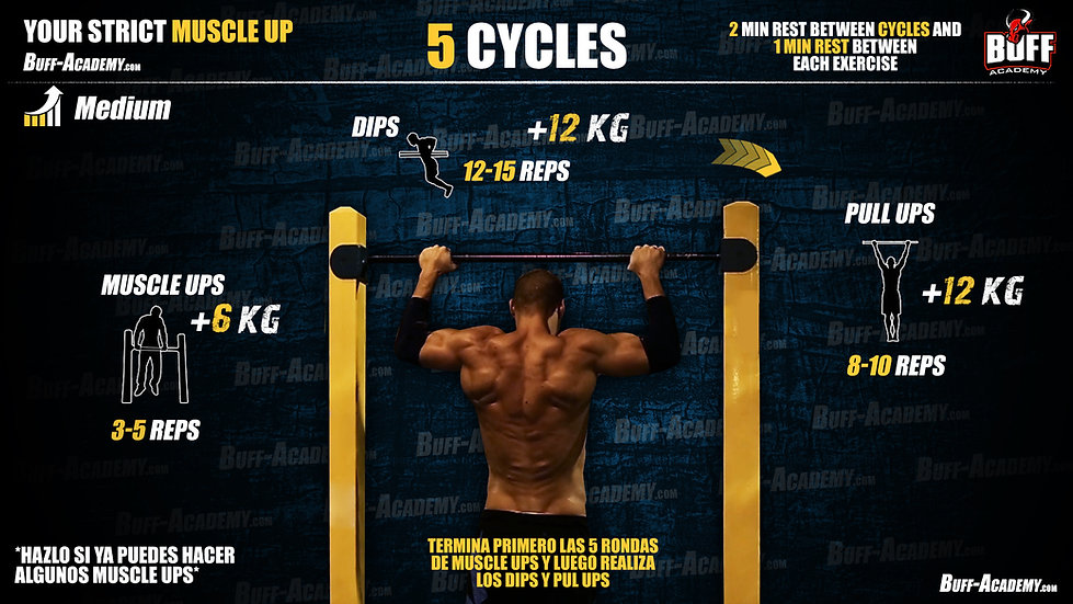 Muscle up Intermediate Routine Two