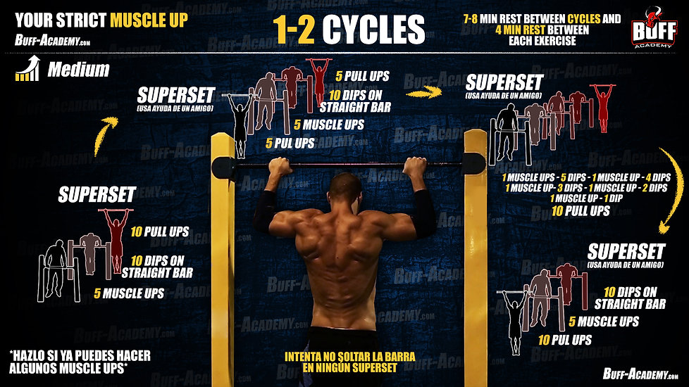 Muscle up Intermediate Routine One