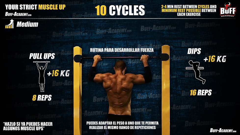 Muscle up Intermediate Routine Five