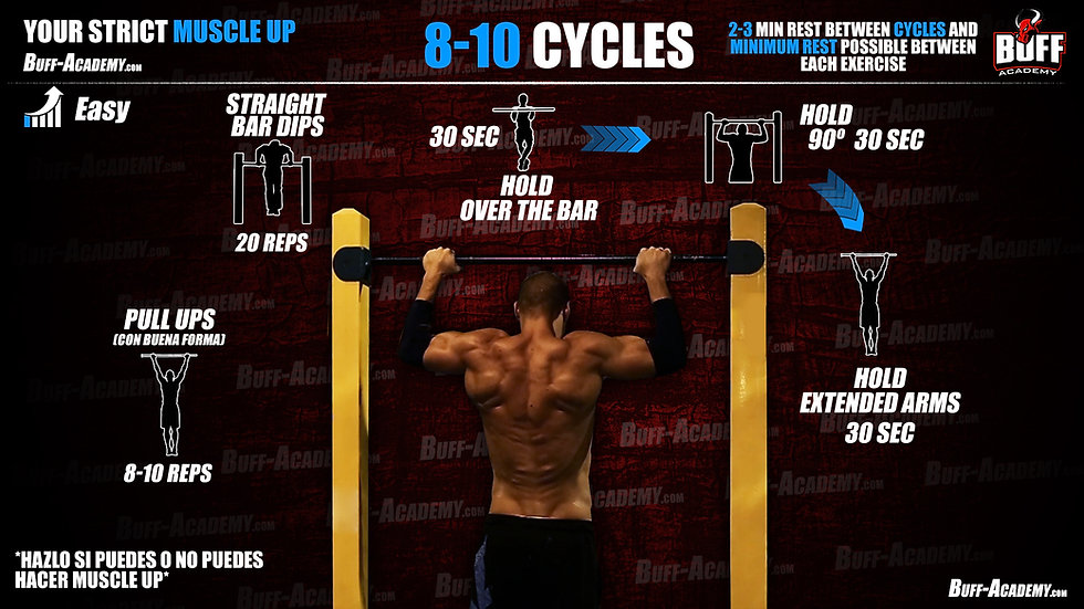 Muscle up Easy Routine One