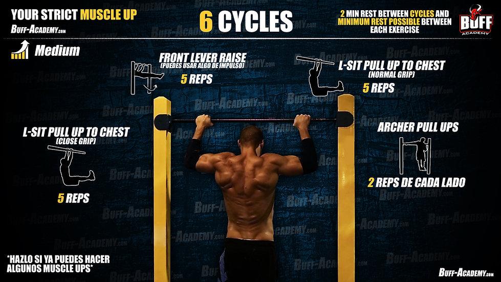 Muscle up Intermediate Routine Three