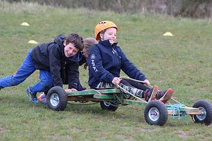 Children on a go kart