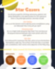 Star Gazers Badge Group Activity Sheet .