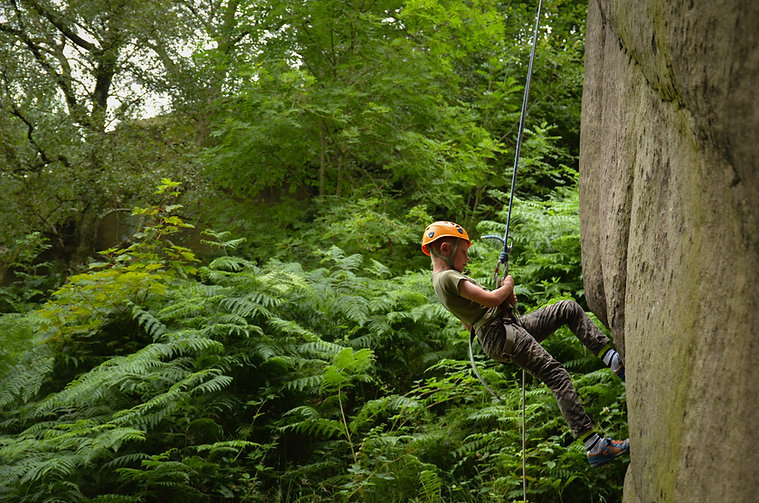 Child Abseiling in Derbyshire
