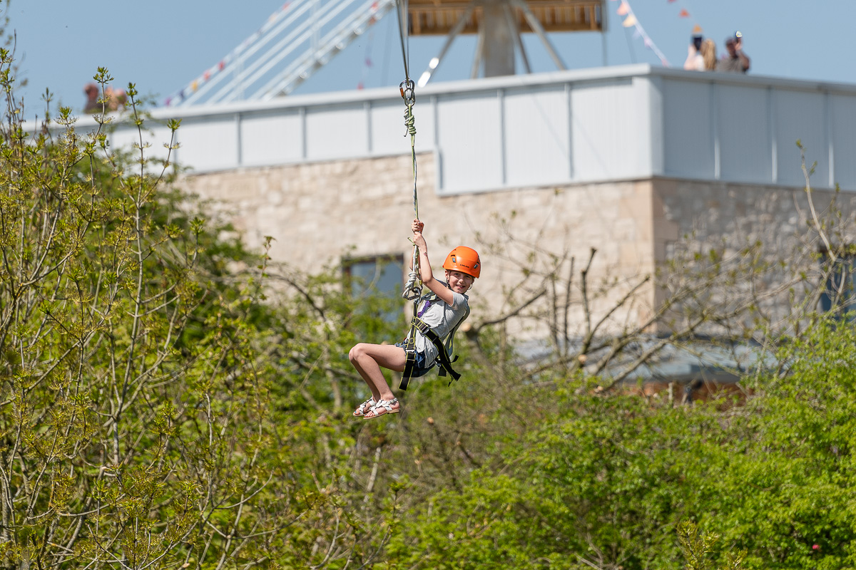 Zip Wire Charity Event