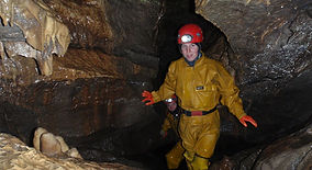 Caving course in the Peak District