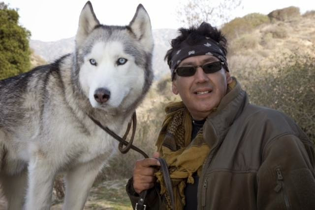 "The Stuntman and the Service Wolf: Gary ""Montana"" Robert and Sage"