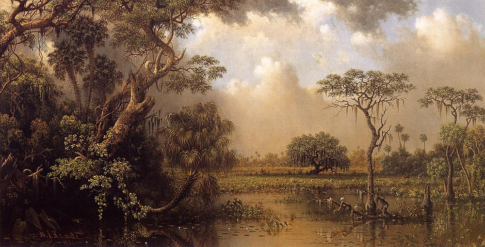 The Great Florida Marsh by Martin Johnson Heade (1886)