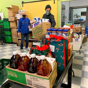 Greenwich Boy Scouts donate 1,384 lbs. of food and goods!