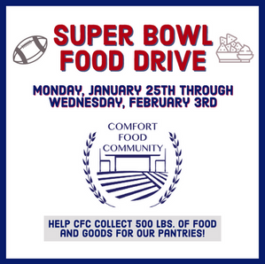 CFC to Host Super Bowl Food Drive