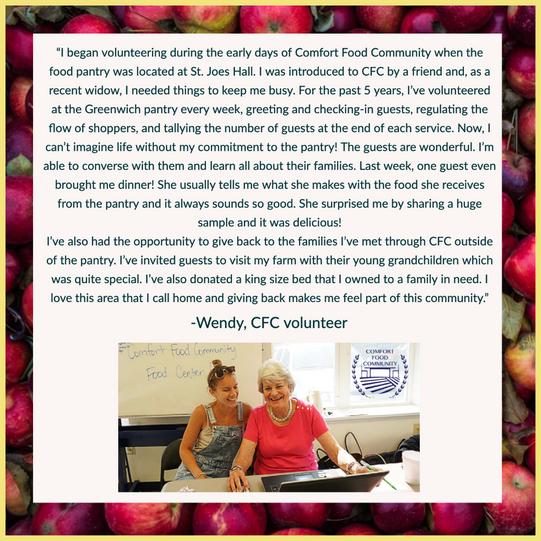 Wendy, CFC volunteer