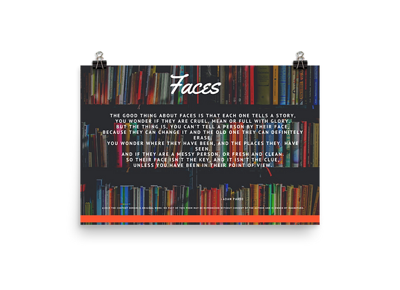 """Faces"" Poster"