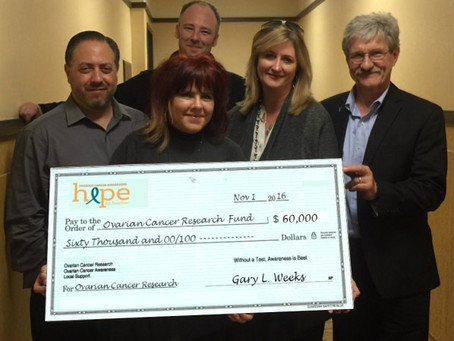 Hope For Heather Delivers 2016 $60,000 Research Grant