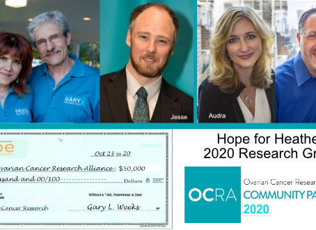 Hope for Heather 2020 Research Grant Virtual Presentation