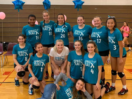"""Fulton Girls Volleyball Hosts """"Spike Teal"""" for Ovarian Cancer"""