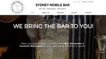 Sydney Mobile Bar Website