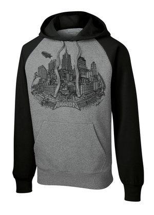 Black/Gray Akron Hooded Sweatshirt