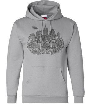 Silver Akron Hooded Sweatshirt