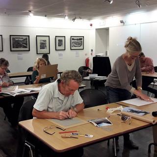 Leading a print workshop