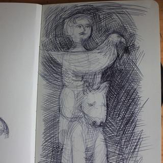 Eagle Hunter. Preliminary sketches