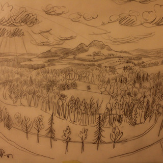 Sketch for Scott`s View