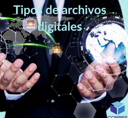 Tipos de archivos digitales