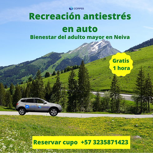 1. Recreación antiestrés en auto en Neiv