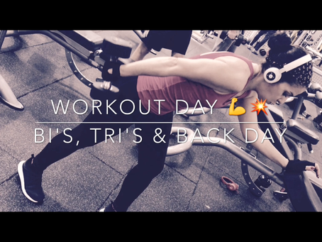 Workout Day Series - Tri's, Bi's and Back!