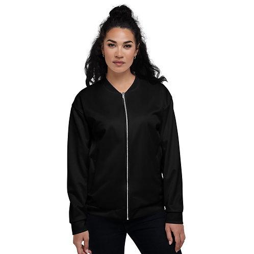 Unisex Bomber Jacket Skate Black