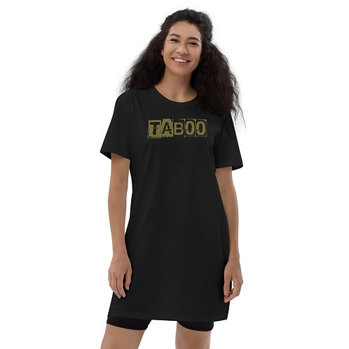 Organic cotton t-shirt dress Taboo Black