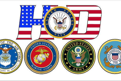 HD Military Support Decal