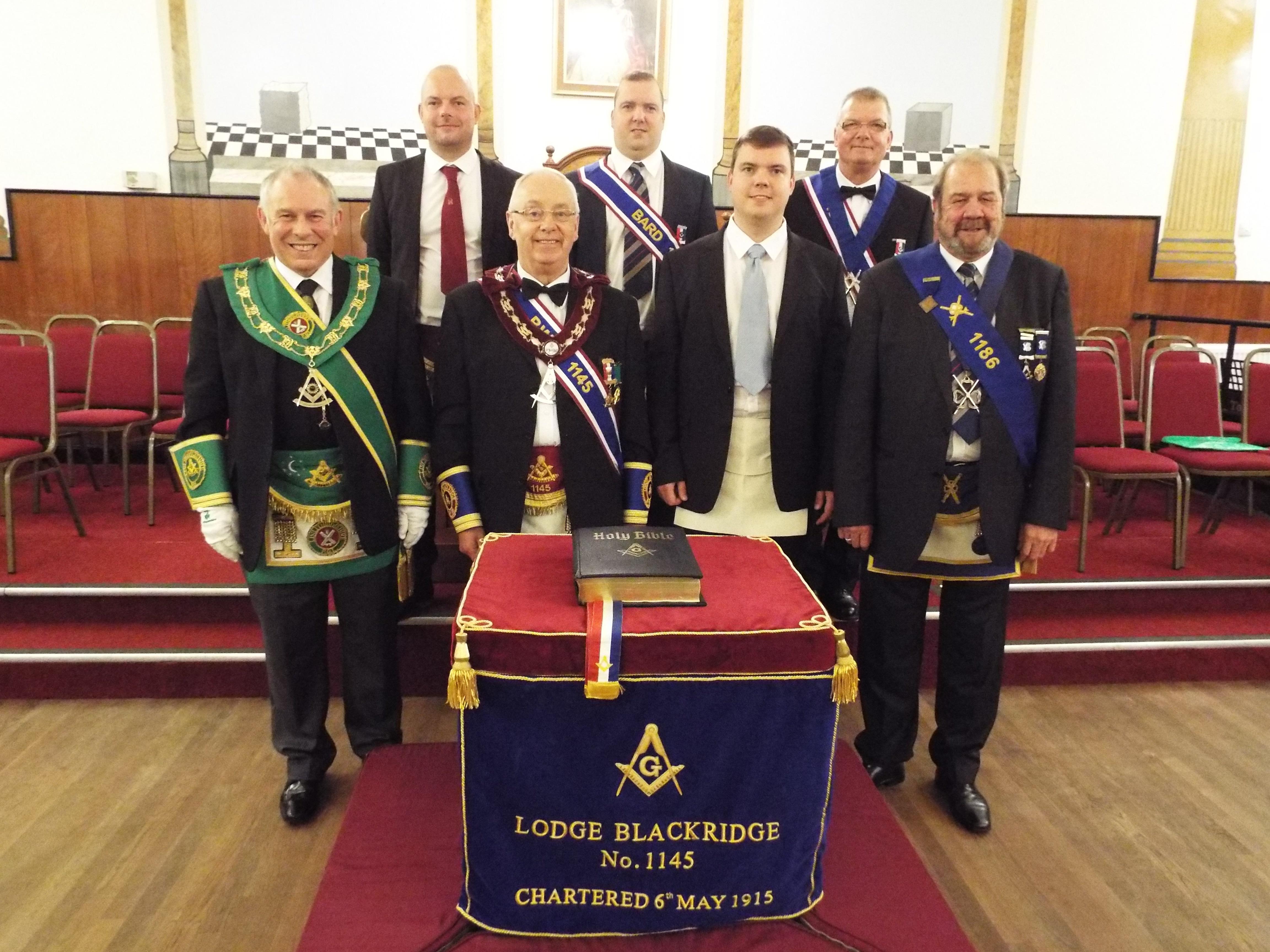 Initiation of Colin Clark at Lodge Blackridge 1145 27 Sep 2016