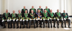 Provincial Grand Lodge of Linlithgowshire attending the rededication ceremony of Lodge Blackridge 11