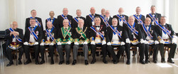 Office Bearers of of Lodge Blackridge 1145 attending the rededication ceremony