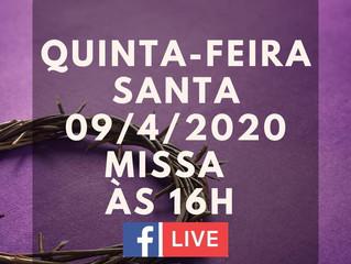 Quinta-Feira Santa Live direto pelo www.facebook.com/santuariofatimars/