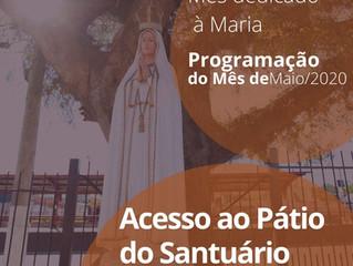 Programação do mês de Maio               Mês dedicado à Maria