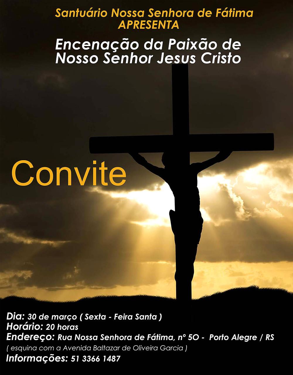 Este ano a Semana Santa da zona norte apresenta uma novidade: o Grupo teatral RasArt vai encenar a Paixão e Morte de Jesus Cristo pela Humanidade. O grupo é composto por atristas da Zona Norte de Porto Alegre e já se apresentou em diversos festivais nacionais.