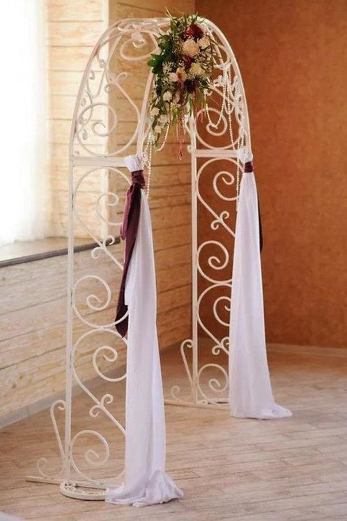 Арка на свадьбу кованая белая