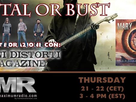 "PodCast MARY BRAIN ""Light After Dark"" CD Showcase on Metal Maximum Radio - MMR"